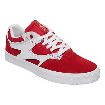DC Kalis Vulc Leather Shoes - Red / White