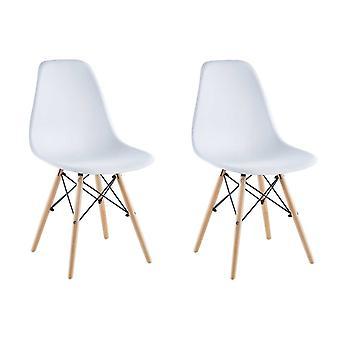 Matera stol, hvid, sæt af 2 Saska Garden