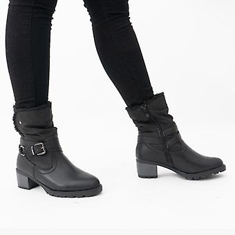Heavenly Feet Courtney Ladies Ankle Boots Black