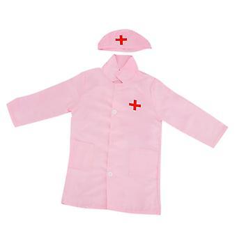 Kids Doctor Surgeon-halloween Cosplay Dress-up Coat With Cap, Nurse Play Tools