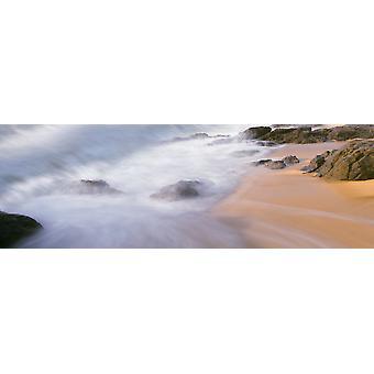 Surfa bryta på stranden Playa Los Cerritos Cerritos Baja California Sur Mexiko affisch Skriv