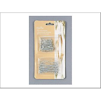 Premier Decorations Ornament Hook 50 Large + 100 Regular Silver AC97408S