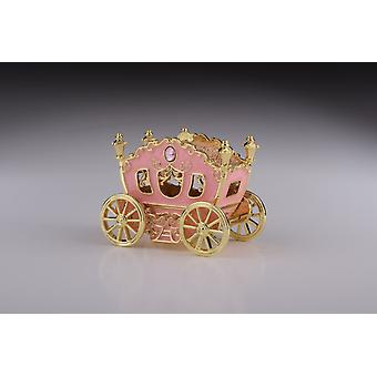 Golden Pink Kutsche Trinket Box