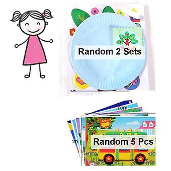 Children 3d Handmade 2 Paper Plate Sticker-craft Educational