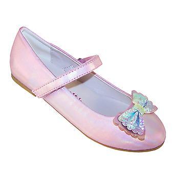 Jenter blek rosa sparkly ballerina fest sko