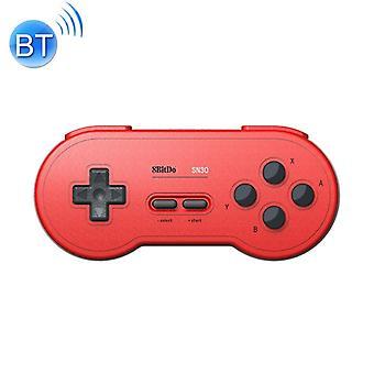 8BitDo SN30 trådlös Bluetooth-handkontroll, stöd Nintendo Switch Android MacOS Gamepad(Röd)