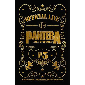 Pantera Poster 101 Proof Band Logo new Official 70cm x 106cm Textile Flag
