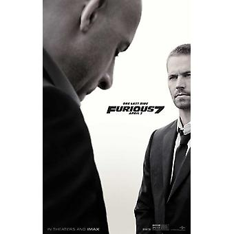 Furious 7 Movie Poster (11 x 17)