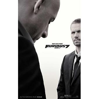Furioso 7 Movie Poster (11 x 17)