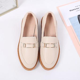 Retro Small Leather Shoes