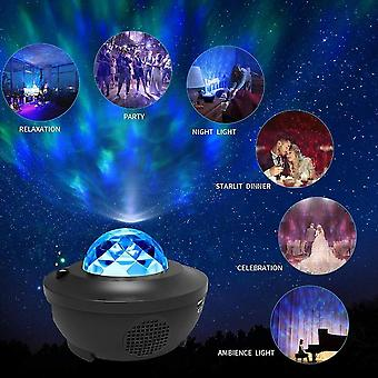 Bluetooth Colorful Romantic Starry Sky Projector Night Light With Music Speaker