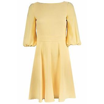 Krep 3/4 Balon Kollu A-line Elbise