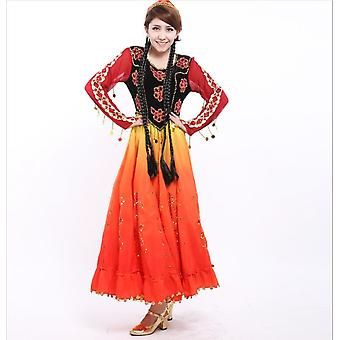 Women Handmade Embroidered Dress Dance Performance