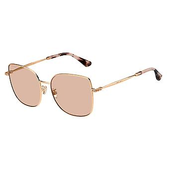 جيمي تشو فاني / G/SK DDB/K1 الذهب النحاس / الذهب مرآة النظارات الشمسية
