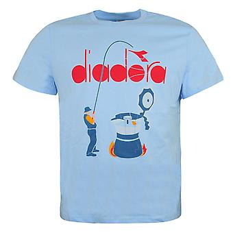 Diadora Mens T-Shirt Graphic Design Branded Top Blue 175281 65188