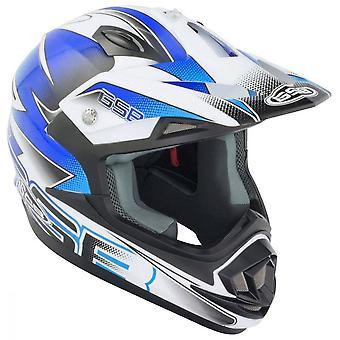 GSB XP-14B Motocross ATV Off-Road Helmet Graphic Blue ACU Gold