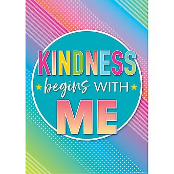 Colorful Vibes Kindness Begins With Me Affiche