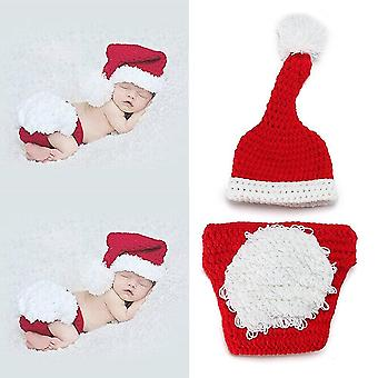 Veewon newborn baby photography props clothing crochet knit costume baby photo props christmas outfi