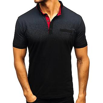Mens Gradient Golf Tennis skjorta