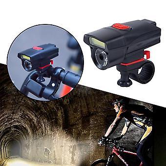 Cob led bicicleta bicicleta luz delantera trasera casco linterna lámpara 6 modos de iluminación luz de bicicleta faro delantero