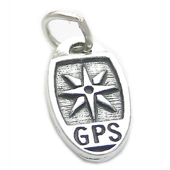 Geocaching Gps Sterling Silver Charm .925 X 1 Geo Caching Charms - 4156