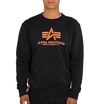 Alpha Industries Herren Sweatshirt Basic Sweater Neon Print