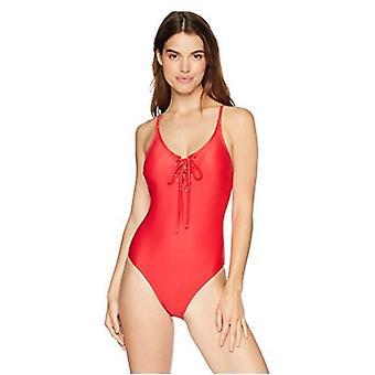 Mae Women's Maillots de bain Hannah Lace Up Front One Piece Swimsuit (pour tasses A-C),B...