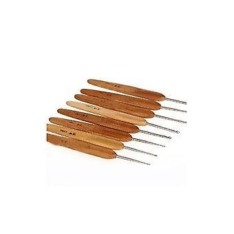 8 ergonomische Metall Bambus gehandhabt häkeln Haken 13cm/5 (1 bis 2,75 mm) Handwerk