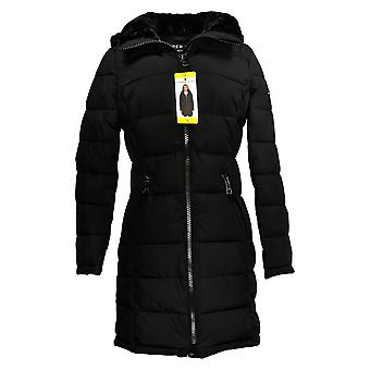 Andrew Marc Women's Winter Jacket Hooded Black 1423663