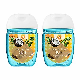 HandiGel Pocket Size Hand Sanitizers Antibacterial Gel, 29ml-Fun in the Sun, 2pk