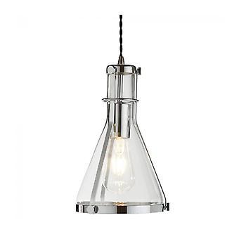 Lámpara Colgante Roxbury De 19 Cm, En Cromo Y Vidrio.