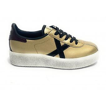 Shoes Women Munich Sneaker Mod. Barru Sky 49 In Ecopelle Gold D21mu04