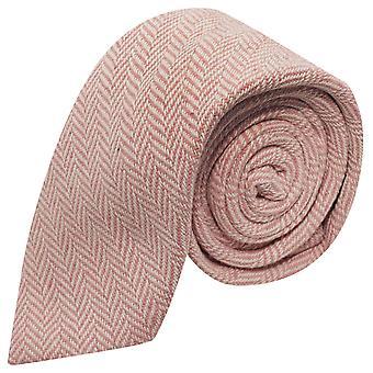 &Rosa caramelle Cravatta a spina di pesce crema