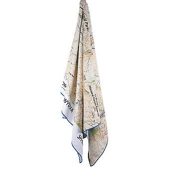 Lifeventure Giant Towel (Snowdon Os Map Print) Cream