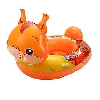 Cartoon Squirrel Baby Pool Float med baldakin oppustelige svømning flåd til Kids Automobile Swimming Circle Alder 1-6