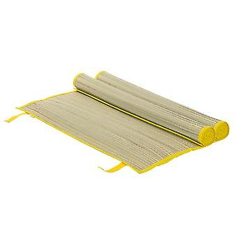 2x Straw Beach Mats Roll Up Camping Hiking Picnic Blanket 60 x 178cm Yellow