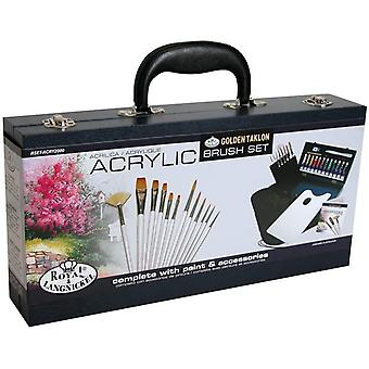 Royal and Langnickel Acrylic Wooden Box Brush Set