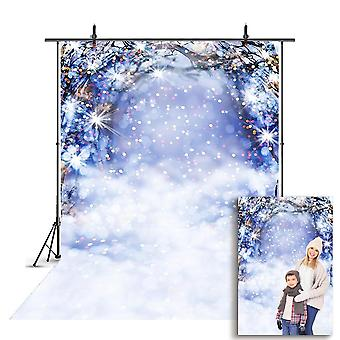 Portrait Backdrop For Photography Snowflake, For Photo Christmas Tree