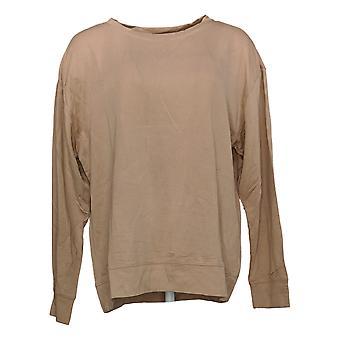 All Worthy Hunter McGrady Women's Top Pullover Sweatshirt Beige A387047
