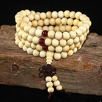 Natural Sandalwood Buddhist  Beads Bracelet