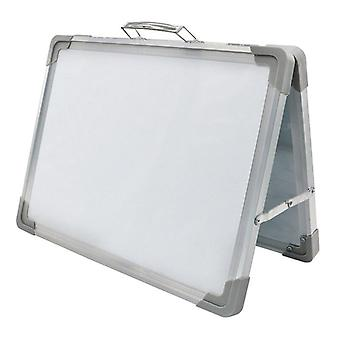Magnetic Desktop Foldable Whiteboard Mini Easel Double Sided With Holder