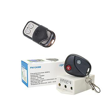 Relay package with PNI CA500 remote control for 1 or 2 garage doors, gates, barriers + Additional remote control