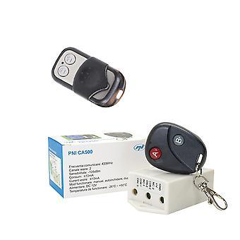 Ensemble relais avec télécommande PNI CA500 pour 1 ou 2 portes de garage, portes, barrières + télécommande supplémentaire