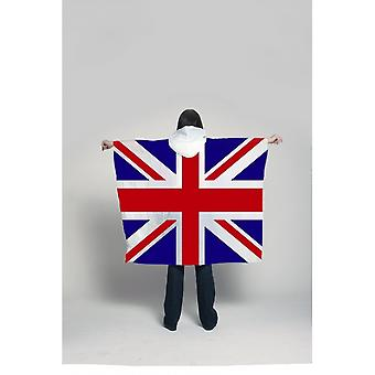 Union Jack Wear Union Jack Waterproof Poncho  Union Jack Front And Back