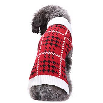 الكلب القط ملابس الشتاء الماس منقوشة سترة تيدي المسترد الذهبي