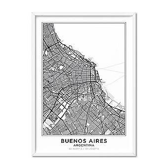 City Map Buenos Aires Art Print