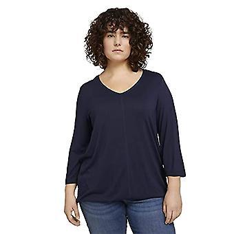TOM TAILOR MY TRUE ME 1024896 Plussize Loose T-Shirt, 10668-Sky Captain Blue, 54 Donna