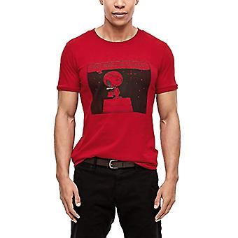 s.Oliver 13.911.32.4176 تي شيرت، أحمر (موحد أحمر 3660)، S الرجال