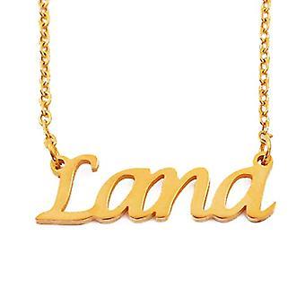 Kigu Lana - Halsband med anpassningsbart namn i 18 karats guld, med namnformat hänge, juvel för kvinna, flickvän, Ref. 4963303128993