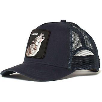 Panther Mesh Cap Čierna Trucker Dad Hat / Net Snapback